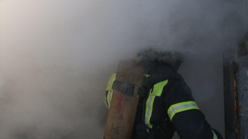 На Камчатке в селе Милькове Мильковского района огнеборцы ликвидировали пожар в группе кооперативных гаражей