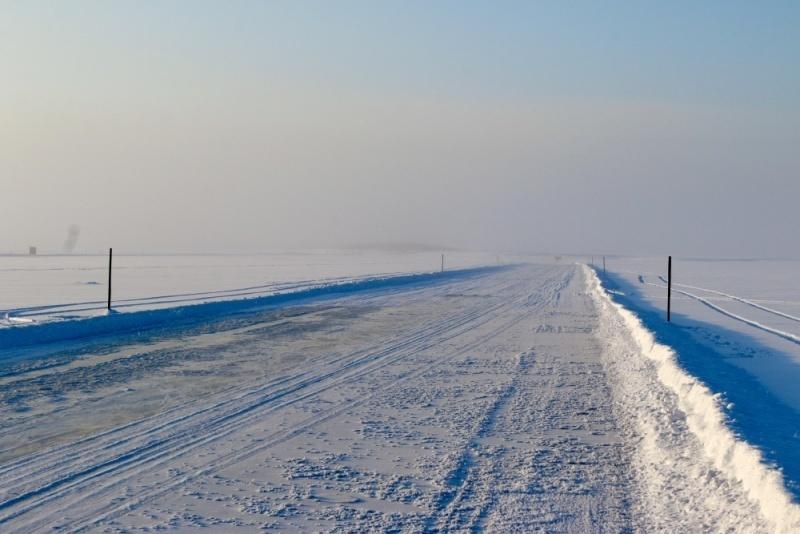 На Камчатке открыто движение на участке автозимника между селом Воямполка и посёлком Палана